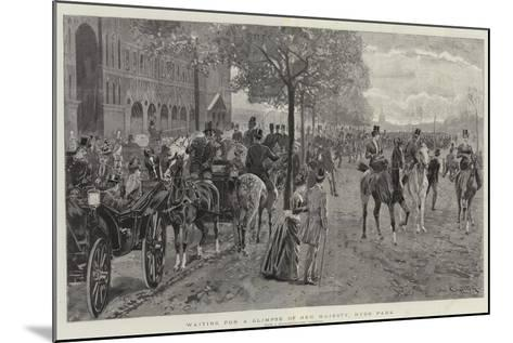 Waiting for a Glimpse of Her Majesty, Hyde Park-John Charlton-Mounted Giclee Print