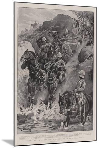 Descending a Spruit, a Rough Road for the Guns-John Charlton-Mounted Giclee Print