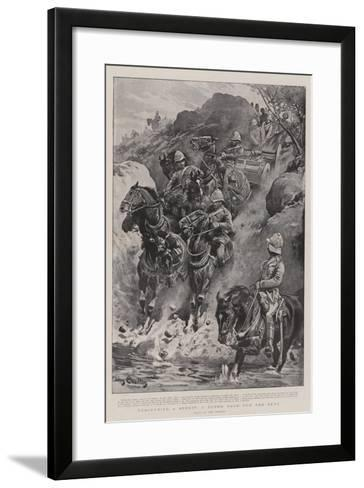 Descending a Spruit, a Rough Road for the Guns-John Charlton-Framed Art Print