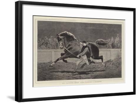 The Islington Horse Show, Trotting a Roadster-John Charlton-Framed Art Print