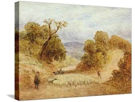 A Dusty Road, 1868-John Linnell-Stretched Canvas Print