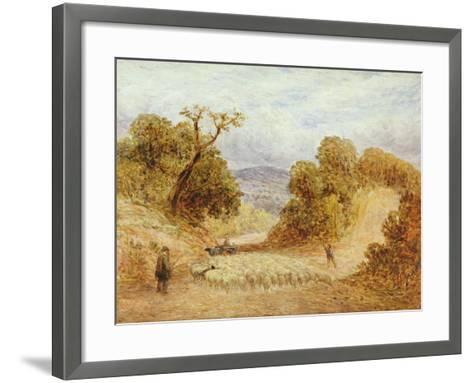 A Dusty Road, 1868-John Linnell-Framed Art Print