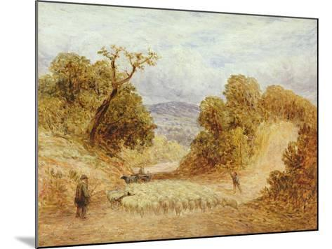 A Dusty Road, 1868-John Linnell-Mounted Giclee Print