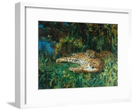 Indian Leopards-John Macallan Swan-Framed Art Print