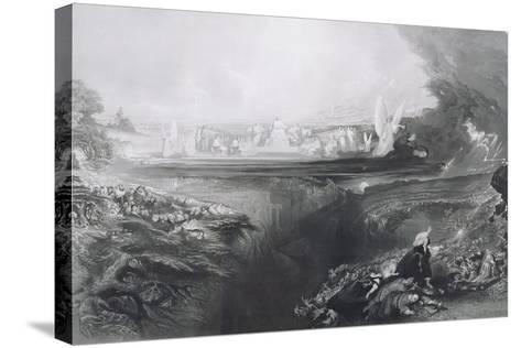The Last Judgement, Engraved by Charles Mottram (1807-76) Pub. by Thomas Mclean, 1856-John Martin-Stretched Canvas Print