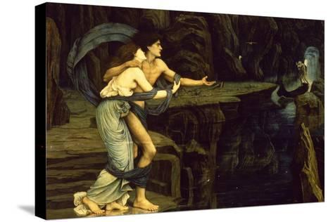 Orpheus and Eurydice on the Banks of the River Styx-John Roddam Spencer Stanhope-Stretched Canvas Print