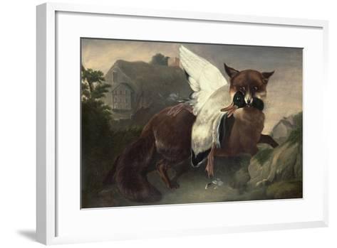 Fox and Goose, C.1835-John James Audubon-Framed Art Print