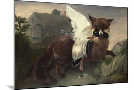 Fox and Goose, C.1835-John James Audubon-Mounted Giclee Print