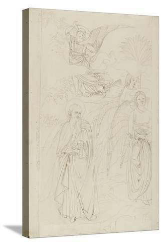 Drawing of Abraham Parting from the Angels from Benozzo Gozzoli's Story of Abraham and Hagar in the-John Ruskin-Stretched Canvas Print