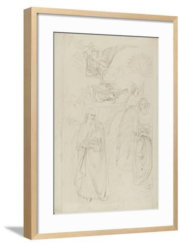 Drawing of Abraham Parting from the Angels from Benozzo Gozzoli's Story of Abraham and Hagar in the-John Ruskin-Framed Art Print