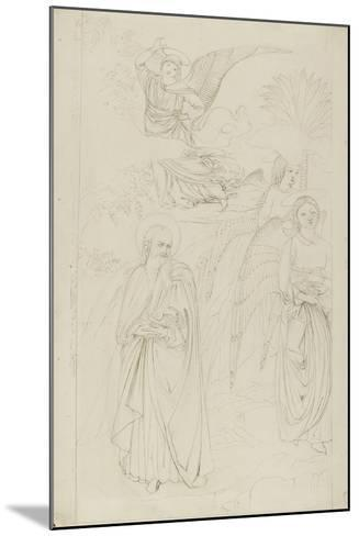 Drawing of Abraham Parting from the Angels from Benozzo Gozzoli's Story of Abraham and Hagar in the-John Ruskin-Mounted Giclee Print
