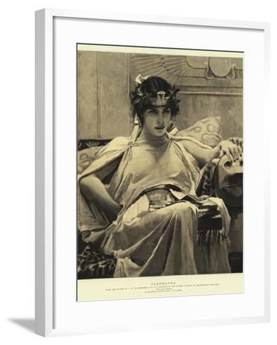 Cleopatra-John William Waterhouse-Framed Art Print