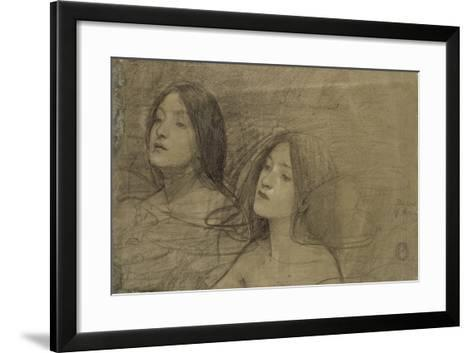 Study of Two Nymphs for 'Hylas and the Nymphs'-John William Waterhouse-Framed Art Print