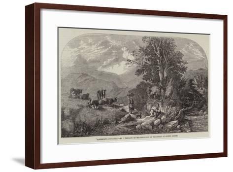 Landscape and Cattle-John F^ Tennant-Framed Art Print