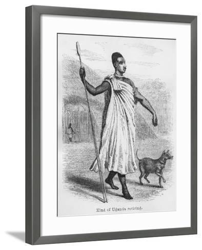 The King of Uganda Retiring, from 'Journal of the Discovery of the Source of the Nile', 1864-John Hanning Speke-Framed Art Print