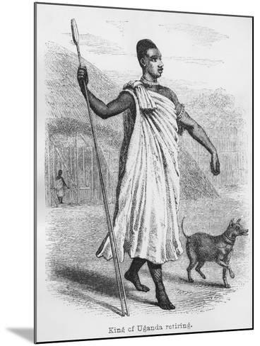 The King of Uganda Retiring, from 'Journal of the Discovery of the Source of the Nile', 1864-John Hanning Speke-Mounted Giclee Print