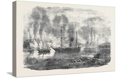 The Bulldog and Starling Intercepting Trading Vessels-John Wilson Carmichael-Stretched Canvas Print