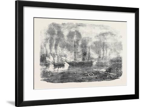 The Bulldog and Starling Intercepting Trading Vessels-John Wilson Carmichael-Framed Art Print