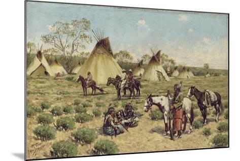 Sioux Encampment, Porcupine, 1910-John Hauser-Mounted Giclee Print