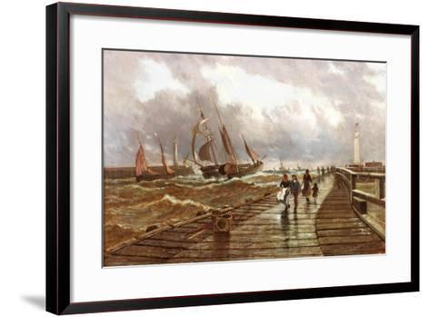 Sunderland Piers, 1843, 1886-John James Syer-Framed Art Print
