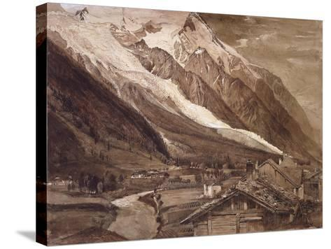 Recto: the Glacier Des Bossons-John Ruskin-Stretched Canvas Print