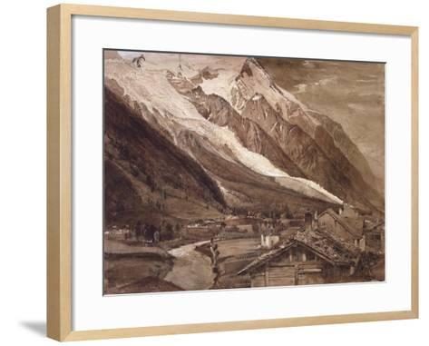 Recto: the Glacier Des Bossons-John Ruskin-Framed Art Print