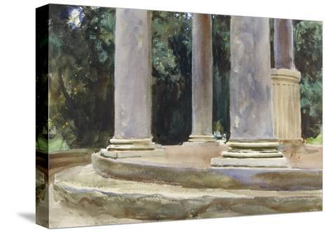 A View Between the Columns of a Tempietto (Watercolour and Touches of Bodycolour over Indications i-John Singer Sargent-Stretched Canvas Print