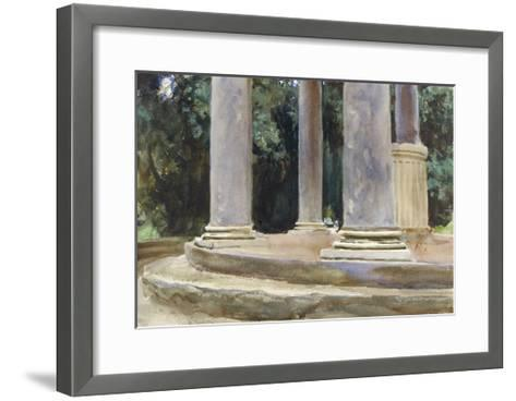 A View Between the Columns of a Tempietto (Watercolour and Touches of Bodycolour over Indications i-John Singer Sargent-Framed Art Print