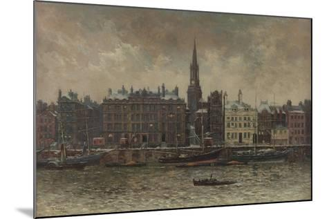 Quayside, Newcastle Upon Tyne, 1886-John Wallace-Mounted Giclee Print