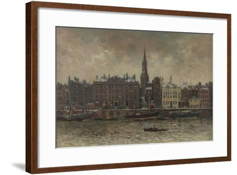Quayside, Newcastle Upon Tyne, 1886-John Wallace-Framed Art Print