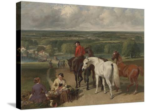 Exercising the Royal Horses, 1847-55-John Frederick Herring Snr-Stretched Canvas Print