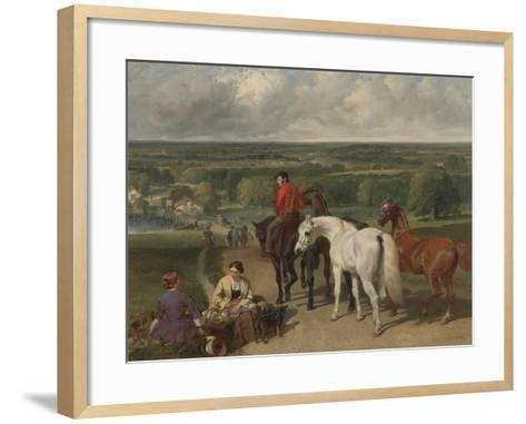 Exercising the Royal Horses, 1847-55-John Frederick Herring Snr-Framed Art Print