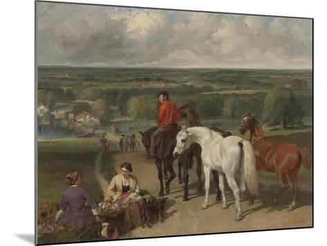 Exercising the Royal Horses, 1847-55-John Frederick Herring Snr-Mounted Giclee Print
