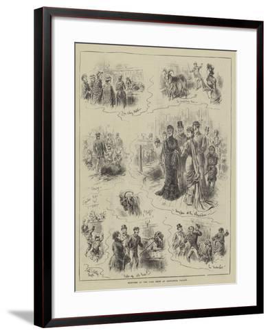Sketches at the Goat Show at Alexandra Palace-John Jellicoe-Framed Art Print