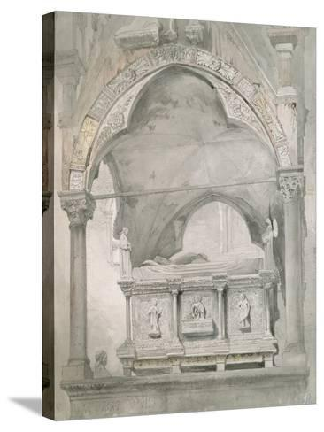 Study for Detail of the Sarcophagus and Canopy of the Tomb of Mastino II Della Scala at Verona-John Ruskin-Stretched Canvas Print