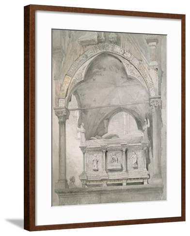 Study for Detail of the Sarcophagus and Canopy of the Tomb of Mastino II Della Scala at Verona-John Ruskin-Framed Art Print