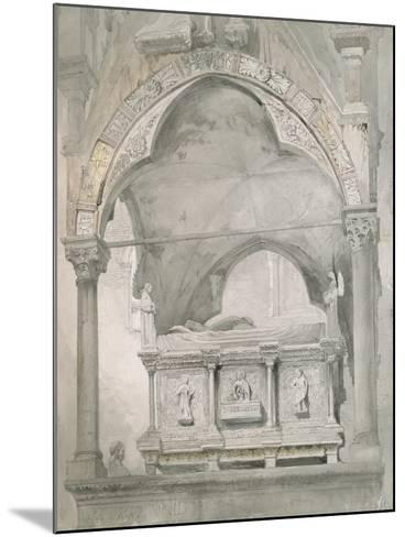 Study for Detail of the Sarcophagus and Canopy of the Tomb of Mastino II Della Scala at Verona-John Ruskin-Mounted Giclee Print