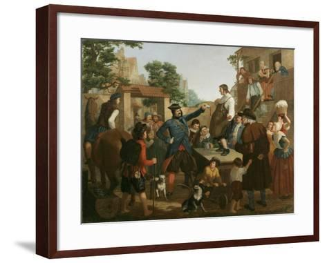 Peter Stuyvesant and the Cobbler, C.1850-John Whetten Ehninger-Framed Art Print