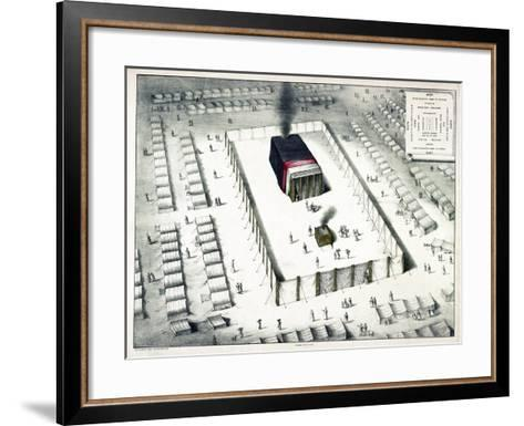 The Tabernacle in the Wilderness, and Plan of the Encampment, Published 1850-John Henry Camp-Framed Art Print