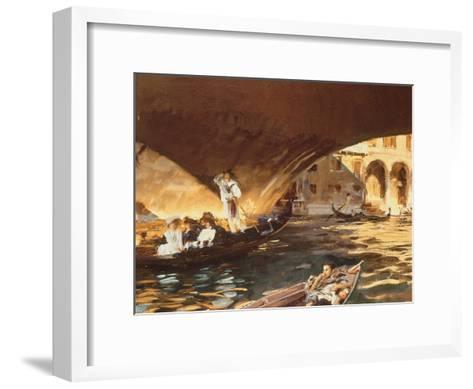 The Rialto, Venice-John Singer Sargent-Framed Art Print