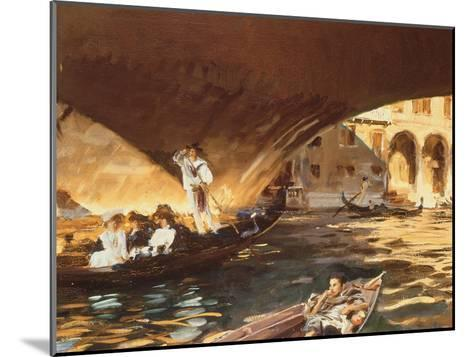 The Rialto, Venice-John Singer Sargent-Mounted Giclee Print