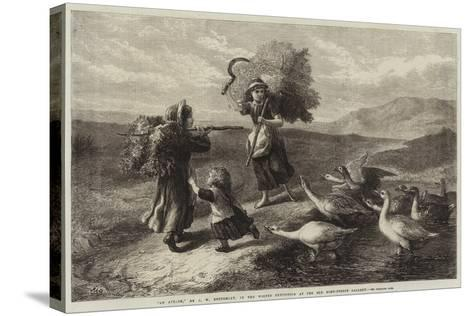 An Attack-John William Bottomley-Stretched Canvas Print