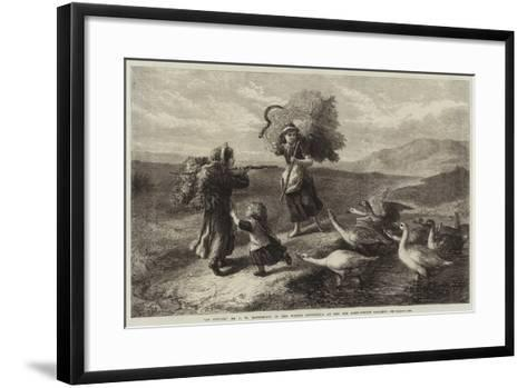 An Attack-John William Bottomley-Framed Art Print