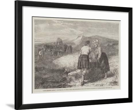 Love Lightens Labour, from the Exhibition of the New Society of Painters in Water-Colours-John Henry Mole-Framed Art Print