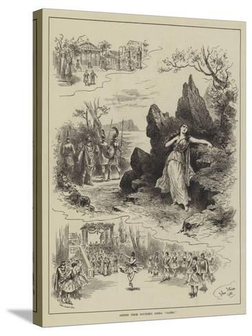 Scenes from Gounod's Opera Sapho-John Jellicoe-Stretched Canvas Print