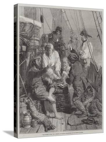 The Storm at Sea-John Morgan-Stretched Canvas Print