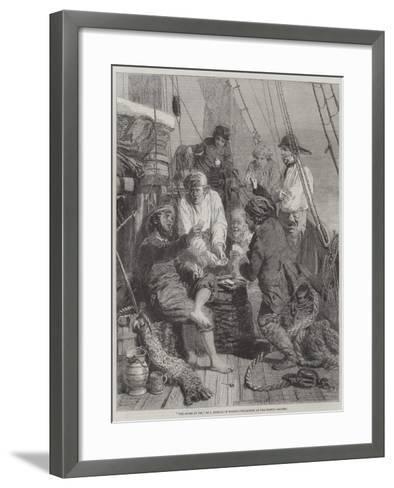 The Storm at Sea-John Morgan-Framed Art Print
