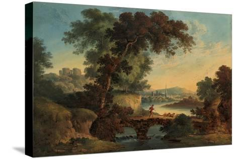 Landscape with Castle and Bridge-John Oldfield-Stretched Canvas Print