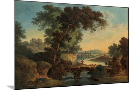 Landscape with Castle and Bridge-John Oldfield-Mounted Giclee Print