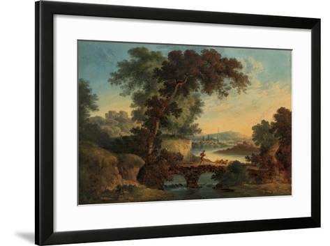 Landscape with Castle and Bridge-John Oldfield-Framed Art Print
